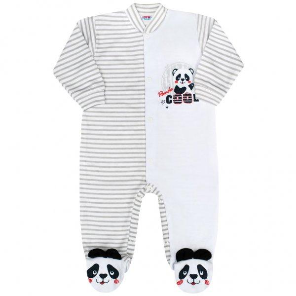 New Baby Kojenecký overal New Baby Panda Šedá