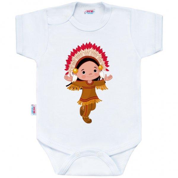 New Baby Body s potiskem New Baby Indian Boy Bílá