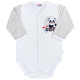 New Baby Kojenecké celorozepínací body s dlouhým rukávem New Baby Panda