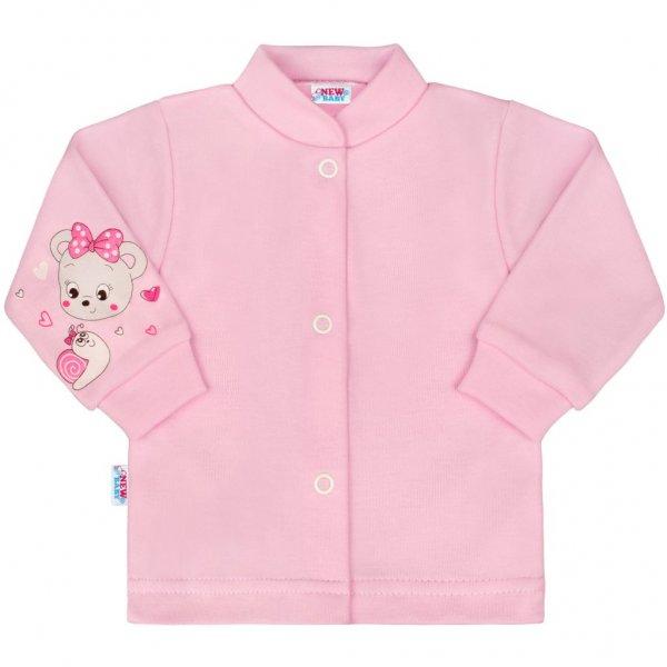 New Baby Kojenecký kabátek New Baby medvídek růžový Růžová