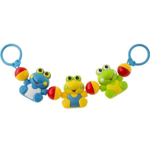 Akuku Dětské chrastítko do kočárku Akuku žabka Multicolor