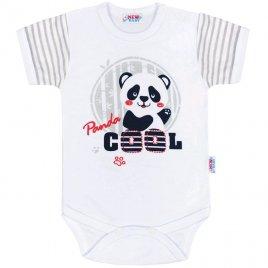 New Baby Kojenecké body s krátkým rukávem New Baby Panda