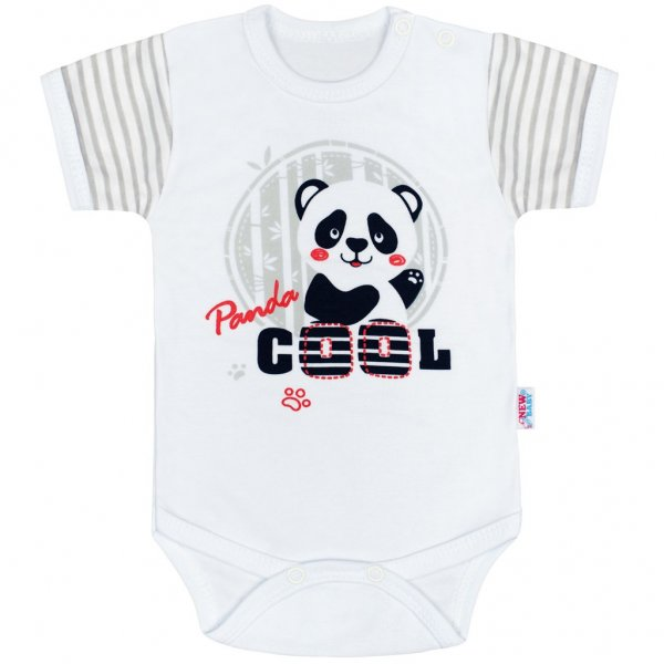 New Baby Kojenecké body s krátkým rukávem New Baby Panda Šedá
