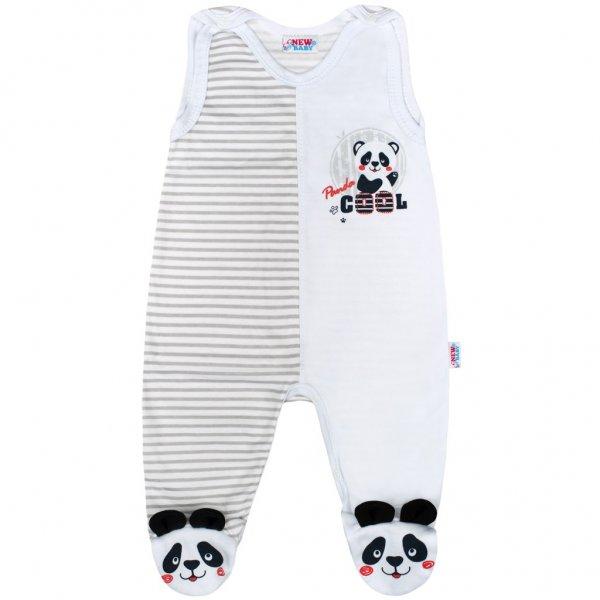 New Baby Kojenecké dupačky New Baby Panda Šedá