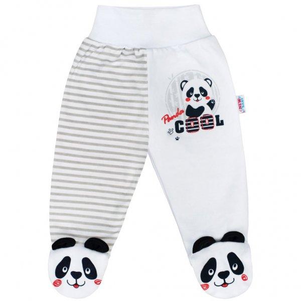 New Baby Kojenecké polodupačky New Baby Panda Šedá