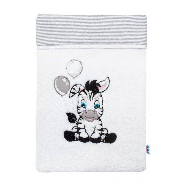 New Baby Luxusní dětská zimní deka New Baby Zebra 110x90 cm Bílá