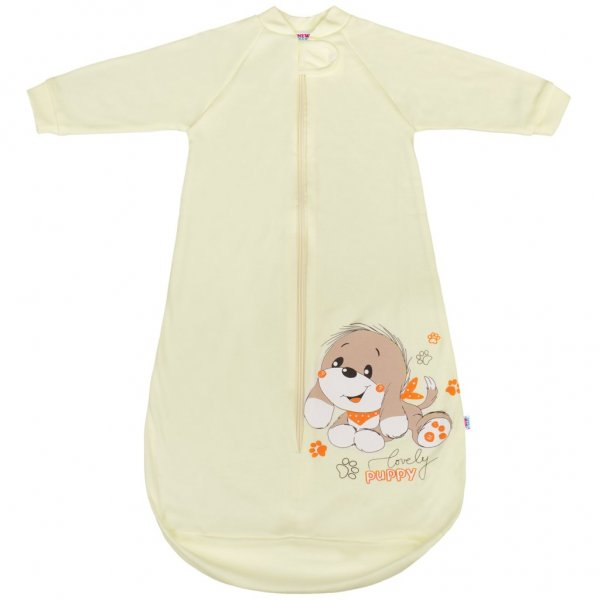 New Baby Kojenecký spací pytel New Baby pejsek béžový Béžová
