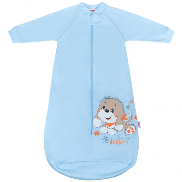 New Baby Kojenecký spací pytel New Baby pejsek modrý Modrá