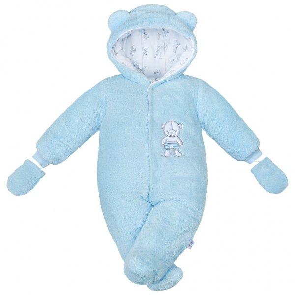 New Baby Zimní kombinézka New Baby Nice Bear modrá Modrá