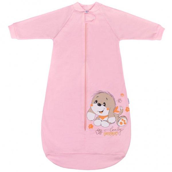 New Baby Kojenecký spací pytel New Baby pejsek růžový Růžová