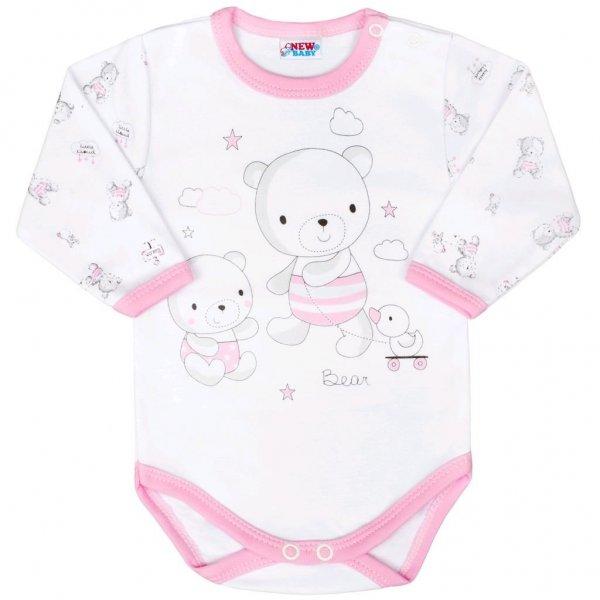 New Baby Kojenecké body New Baby Bears růžové Růžová