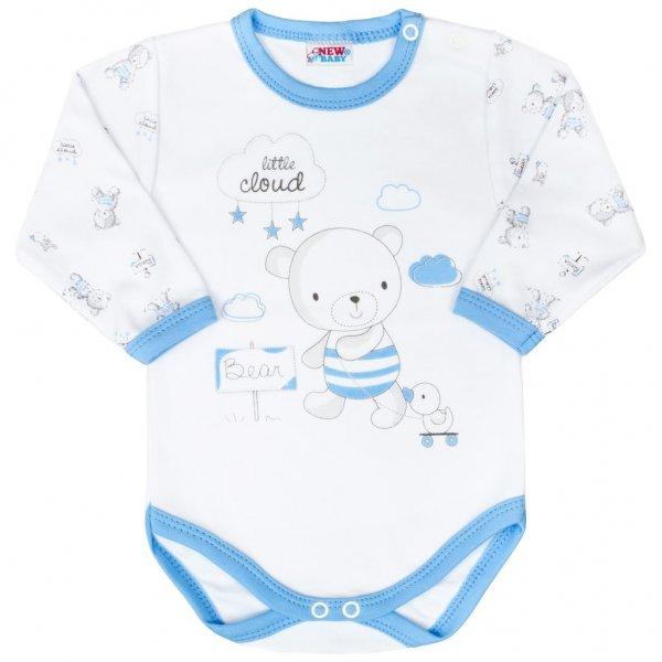 New Baby Kojenecké body New Baby Bears modré Modrá