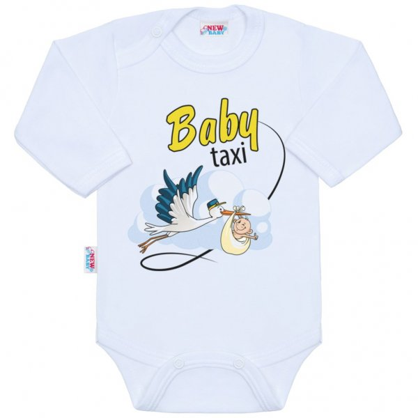 New Baby Body s potiskem New Baby Baby taxi Bílá