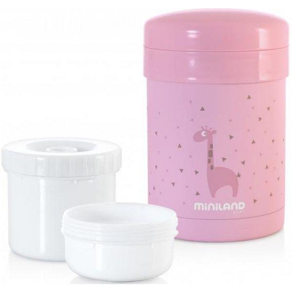 Miniland Termoska Thermic a kelímky na jídlo 700ml Pink