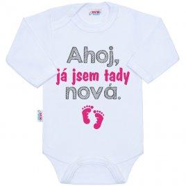 New Baby Body s potiskem New Baby Ahoj, já jsem tady nová.