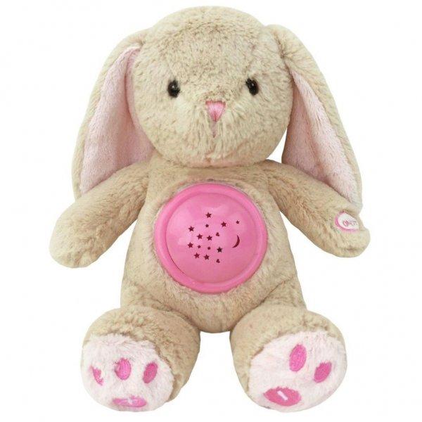 Baby Mix Plyšový králíček s projektorem Baby Mix růžový Růžová