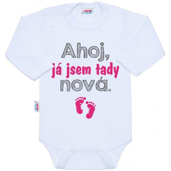 New Baby Body s potiskem New Baby Ahoj, já jsem tady nová. Růžová
