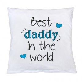 New Baby Polštář New Baby s potiskem Best daddy 40x40 cm
