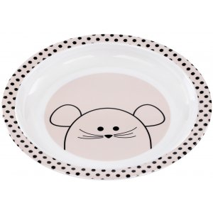 Lässig Plate with Silicone Little Chums Mouse