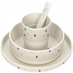 Lässig Dish Set Bamboo Little Water Whale