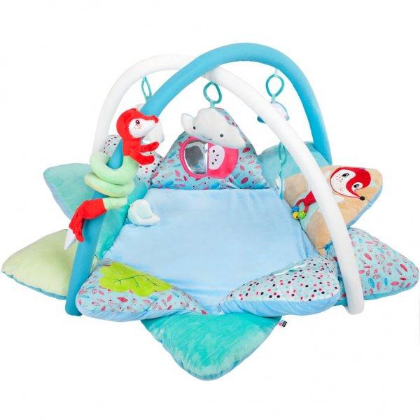 PlayTo Luxusní hrací deka s melodií PlayTo Fox Modrá