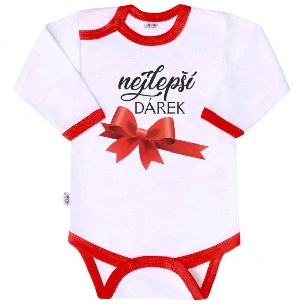 New Baby Body s potiskem New Baby nejlepší DÁREK Červená