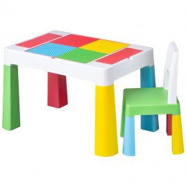 Tega Dětská sada stoleček a židlička Multifun multicolor