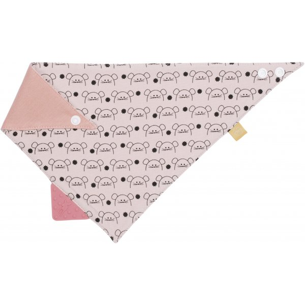 Lässig Interlock Bandana with silicone teether Little Chums Mouse