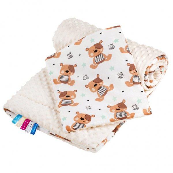 New Baby Oboustranný Set z Minky do kočárku New Baby teddy béžový Béžová