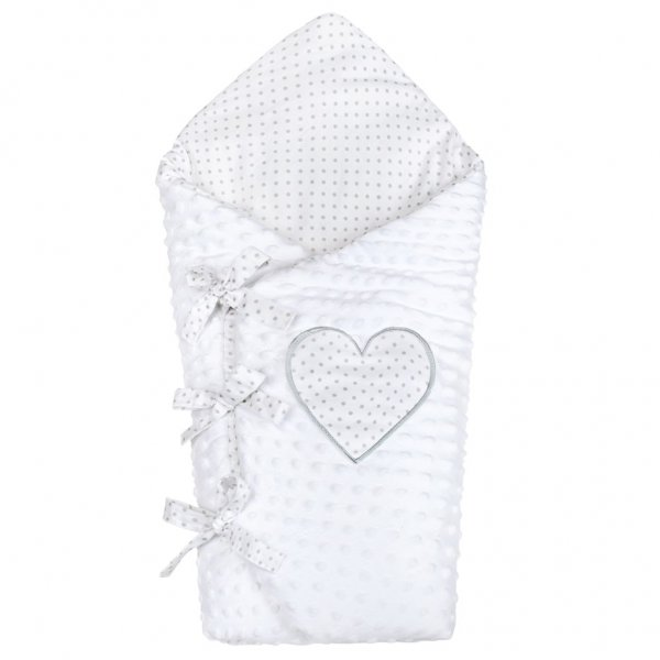 New Baby Luxusní šněrovací zavinovačka z Minky New Baby bílá 75x75 cm Bílá