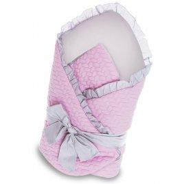 Belisima Zavinovačka s mašlí Belisima Králíček růžovo-šedá