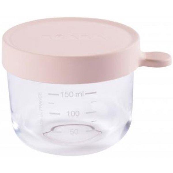 Beaba Kelímek na jídlo skleněný 150ml Růžový