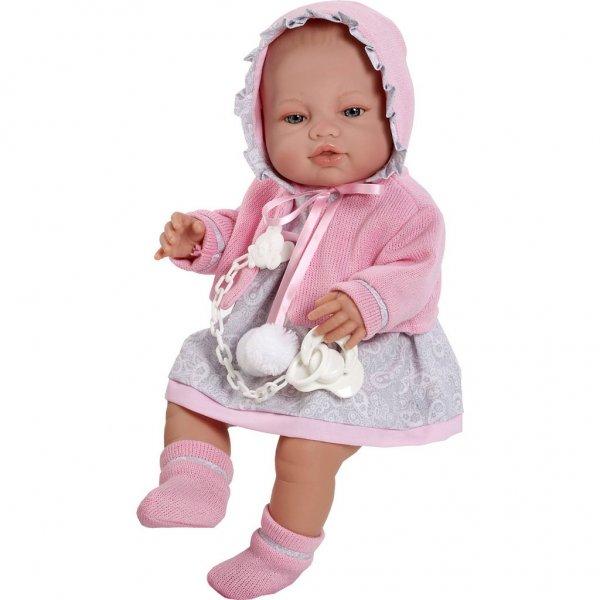Berbesa Luxusní dětská panenka-miminko Berbesa Amanda 43cm Růžová