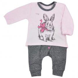 Koala Kojenecké tepláčky a tričko Koala Anitka růžovo-šedá