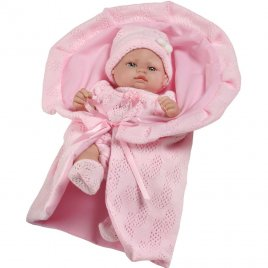 Berbesa Luxusní dětská panenka-miminko Berbesa Valentina 28cm