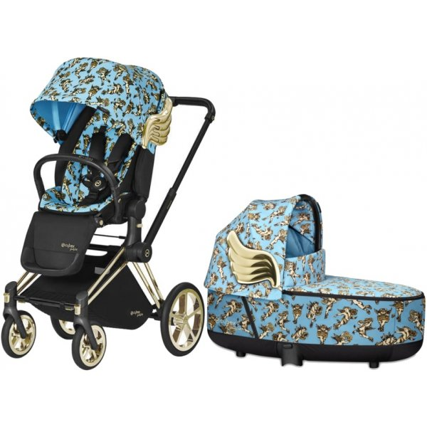 Cybex Kočárek Priam Lux Seat Cherubs, Lux carry cot by Jeremy Scott