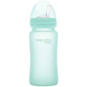 Everyday Baby Láhev sklo s brčkem, 240ml Mint Green