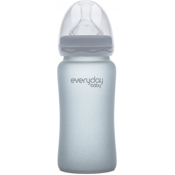Everyday Baby Láhev sklo, odolná, 240ml Quiet grey