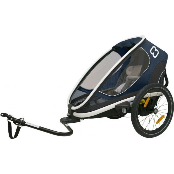 Hamax OUTBACK ONE - jednomístný vozík za kolo vč. ramena + kočárkový set polohovací 2019 Navy modrá