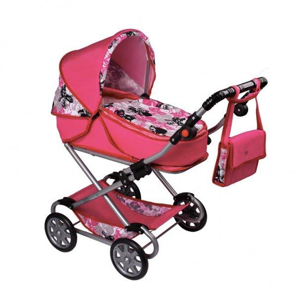 New Baby Dětský kočárek pro panenky 2v1 New Baby Veronika Růžová