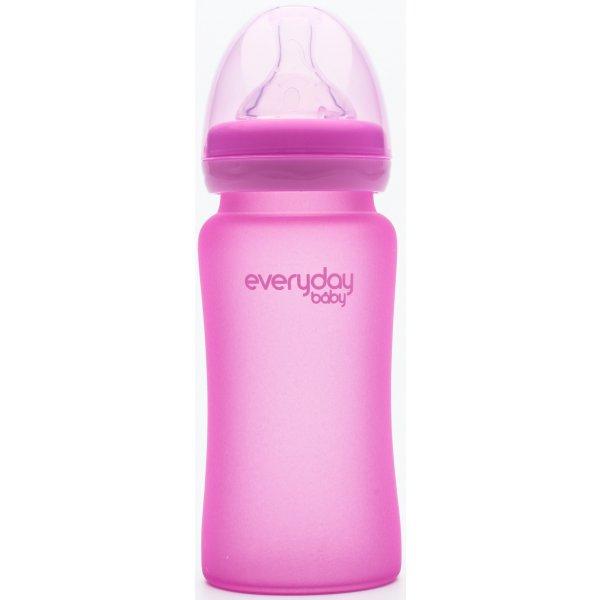 Everyday Baby Láhev sklo, senzor, 240ml Pink
