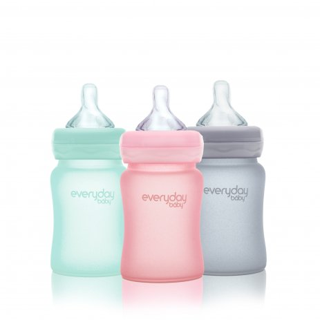 Everyday Baby Láhev sklo, odolná, 150ml Mint Green