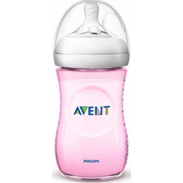 Avent Láhev Natural 260 ml Růžová