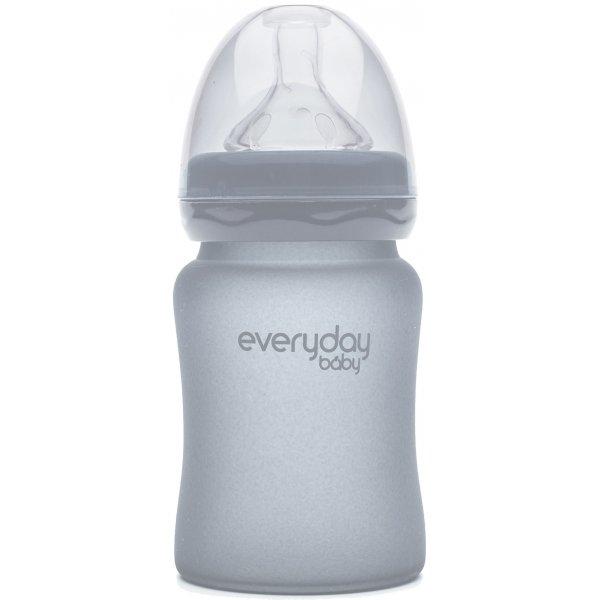 Everyday Baby Láhev sklo, odolná, 150ml Quiet grey