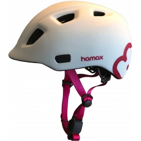 Hamax Cyklohelma Thundercap Bílá / růžové pásky