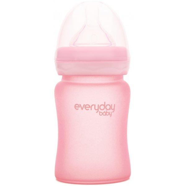 Everyday Baby Láhev sklo, odolná, 150ml Rose Pink