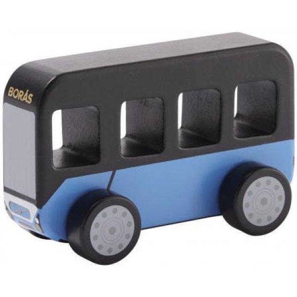 Kids concept Autobus Aiden dřevěný Modrá