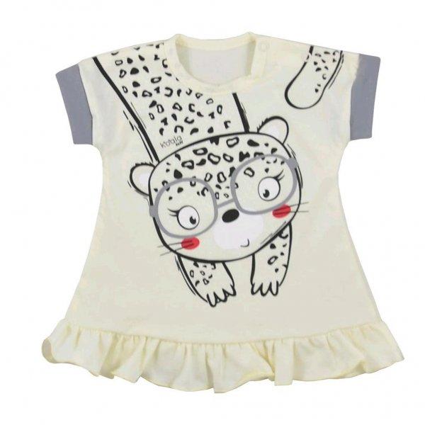 Koala Kojenecké letní šaty Koala Sara béžové Béžová