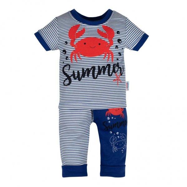 New Baby Kojenecké tričko s krátkým rukávem a tepláčky New Baby Summer Modrá