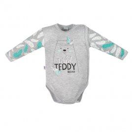 New Baby Kojenecké body s bočním zapínáním New Baby Wild Teddy
